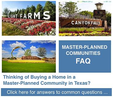 top master planned  FAQ communities  dal