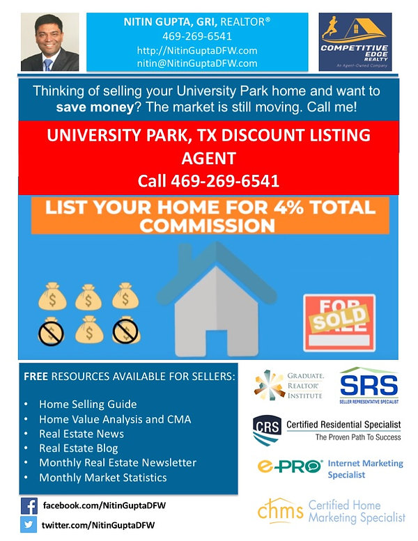 Sell My University Park Home For 1% | List Your Home for 1 percent. Don't overpay commission fees. University Park Texas - Real Estate Service List my home for 1%, sell my home for 1%, list your home for 1 percent, 1 percent commission fees, flat fee 1 % listing, list for 1%, sell your home for 1%, sell my University Park home, sell my home University Park texas, home listing agents, home selling agents, real estate listing agents, house selling agents, sell your home fast, sell your home quickly, sell home University Park, sell home in University Park, selling a home in University Park, sell my University Park home mls for 1%, sell your home for 1%, sell my University Park home, sell my home University Park texas, home listing agents, home selling agents, real estate listing agents, house selling agents, sell your home fast, sell your home quickly, sell home University Park, sell home in University Park, selling a home in University Park, University Park Texas Discount Listing A