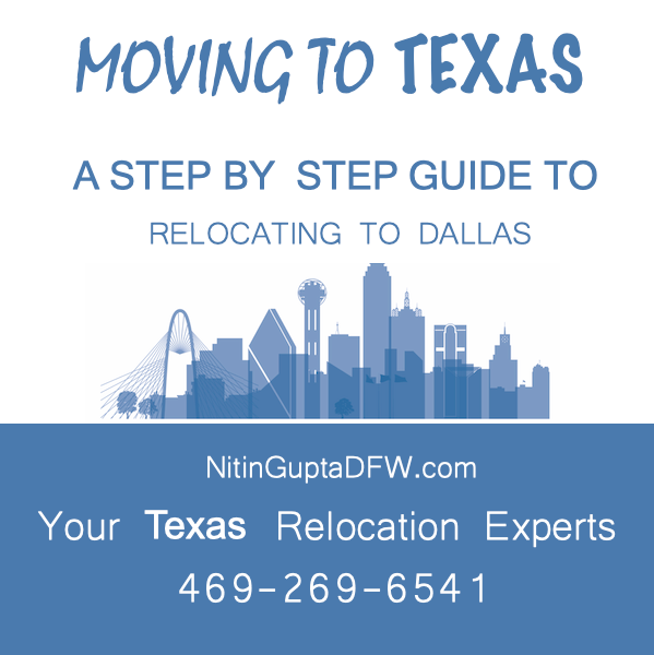 Learn about relocation resources available from Nitin Gupta to real estate seekers relocating to Frisco