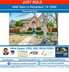 Just Sold! Another home in Richardson, TX