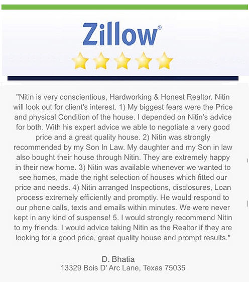zillow review 5 star top frisco realtor