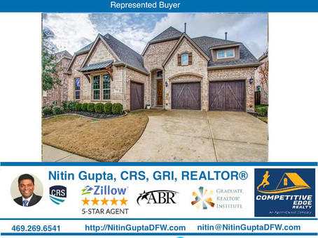 Just Sold! Another home to a family in Frisco!