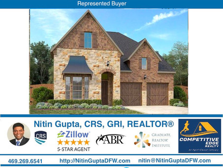 Just Sold! Another new construction home to a first time home buyer family in Coppell ISD in Irving,