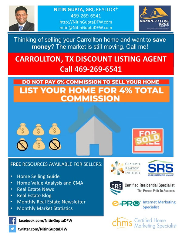 Sell My Carrollton Home For 1% | List Your Home for 1 percent. Don't overpay commission fees. Carrollton Texas - Real Estate Service List my home for 1%, sell my home for 1%, list your home for 1 percent, 1 percent commission fees, flat fee 1 % listing, list for 1%, sell your home for 1%, sell my Carrollton home, sell my home Carrollton texas, home listing agents, home selling agents, real estate listing agents, house selling agents, sell your home fast, sell your home quickly, sell home Carrollton, sell home in Carrollton, selling a home in Carrollton, sell my Carrollton home mls for 1%, sell your home for 1%, sell my Carrollton home, sell my home Carrollton texas, home listing agents, home selling agents, real estate listing agents, house selling agents, sell your home fast, sell your home quickly, sell home Carrollton, sell home in Carrollton, selling a home in Carrollton, sell my Carrollton home Sell Your Home for 1% List your Home for 1%, Carrollton Texas Discount Listing Agent