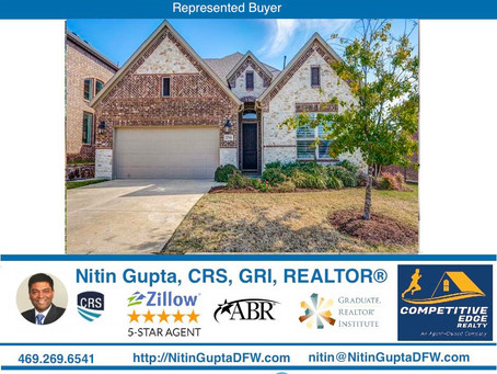 Just Sold! Another home to a family relocating to Dallas from Virginia!