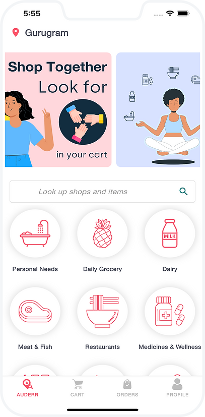 Auderr App. Auderr app will help you shop online from your local stores.