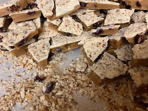 White Chocolate Cranberry Toffee - 3.5 oz