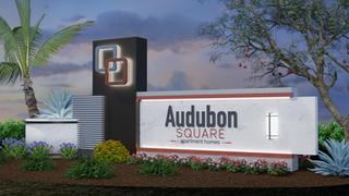 Audubon Square Double Sided Sign w Lands