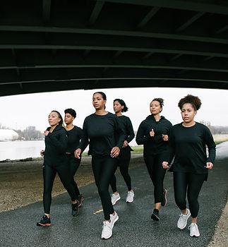 RUNGRL founders running in Anacostia Park, Washington, DC.