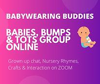 Babywearing buddies online baby group.jp