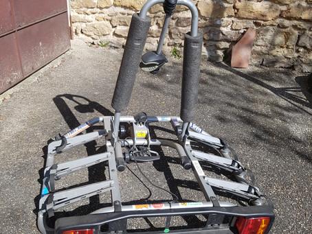 A Vendre porte-vélo 3 places porte plaque, branchement élec pour feux. 100 euros 06 52 68 80 83