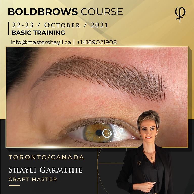 Boldbrows workshop October 2021, Toronto, Canada