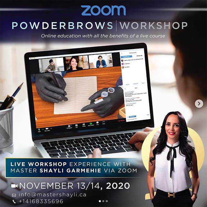 Zoom Powder Brows Workshop