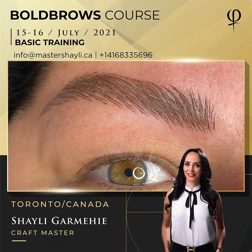 Boldbrows Training Toronto July 2021