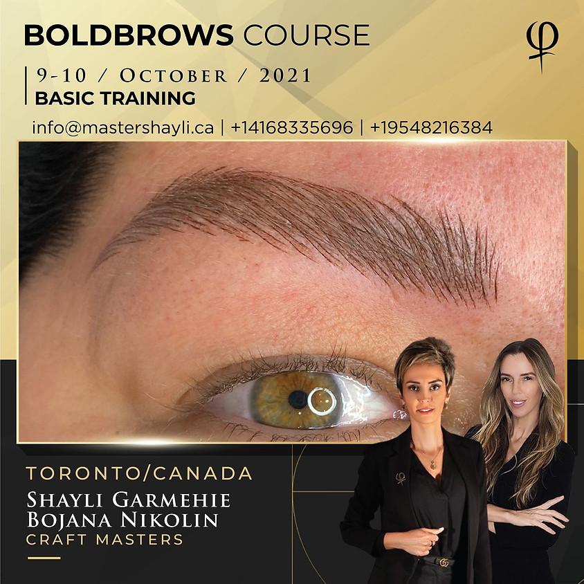 Boldbrows workshop Toronto, Canada, October