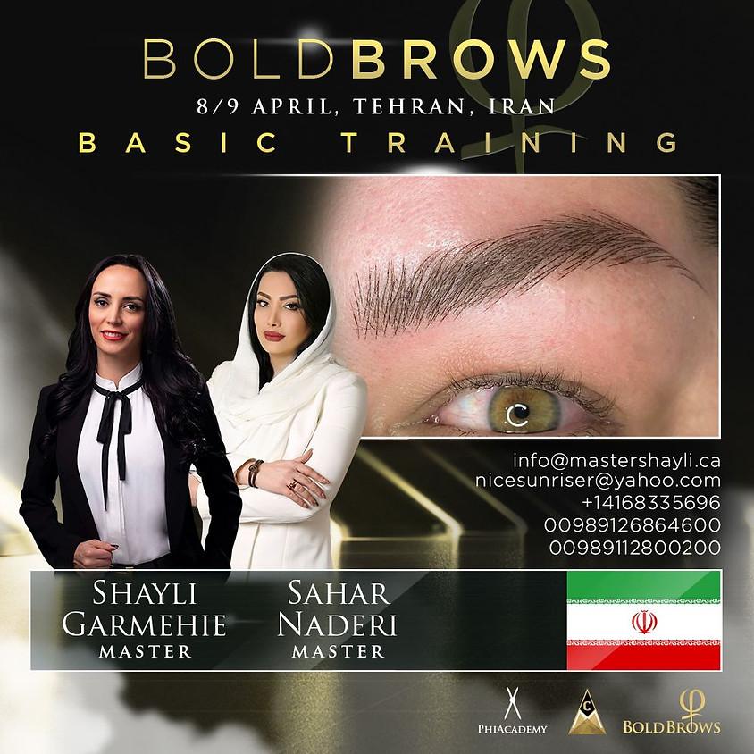 Boldbrows workshop Tehran Iran April 2021