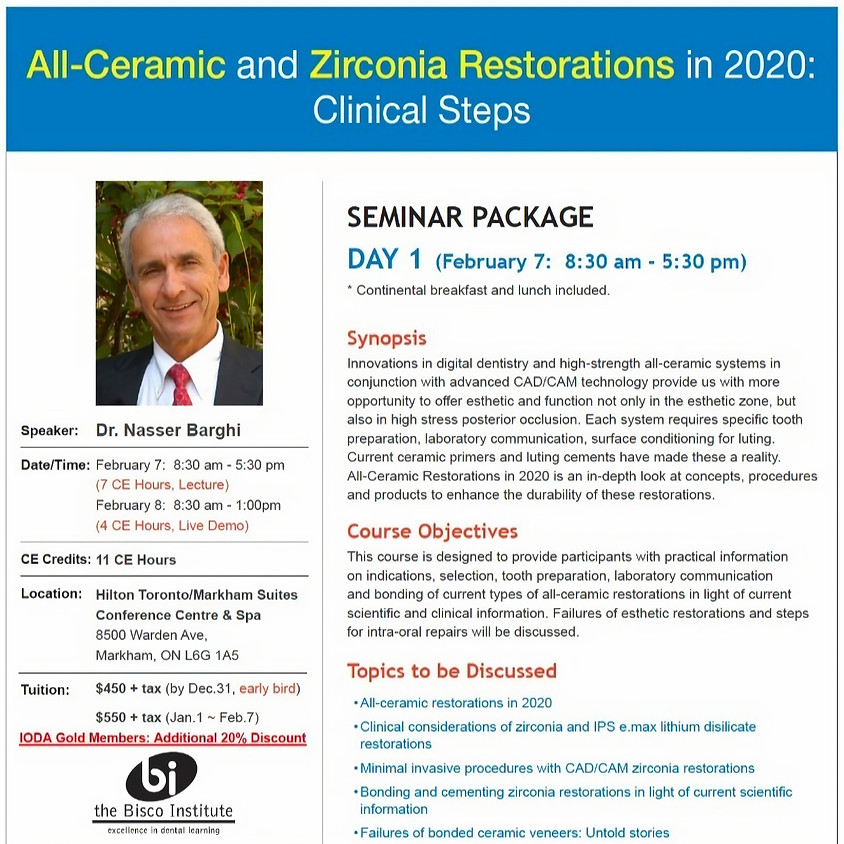 All-Ceramic and Zirconia Restorations in 2020: Clinical Steps