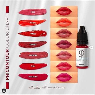 Phicontour color chart