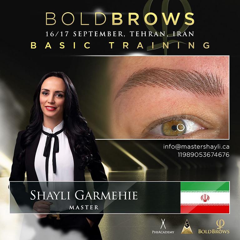 Boldbrows workshop Tehran Iran September 2021