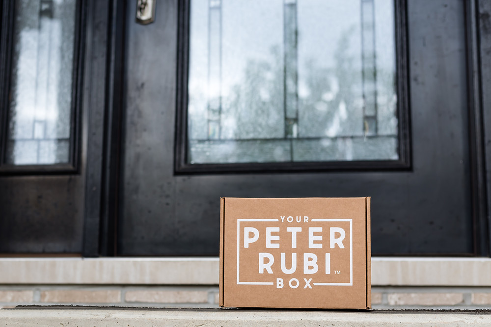 Your Peter Rubi Box filled with clean, nutrient-dense snacks available to ship anywhere in the United States