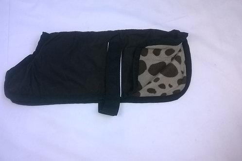 Custom made oilskin dog coat with sherpa or polar fleece lining