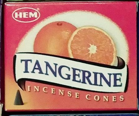Tangerine incense cones