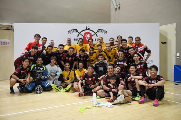 Moose Warriors with Australia Team