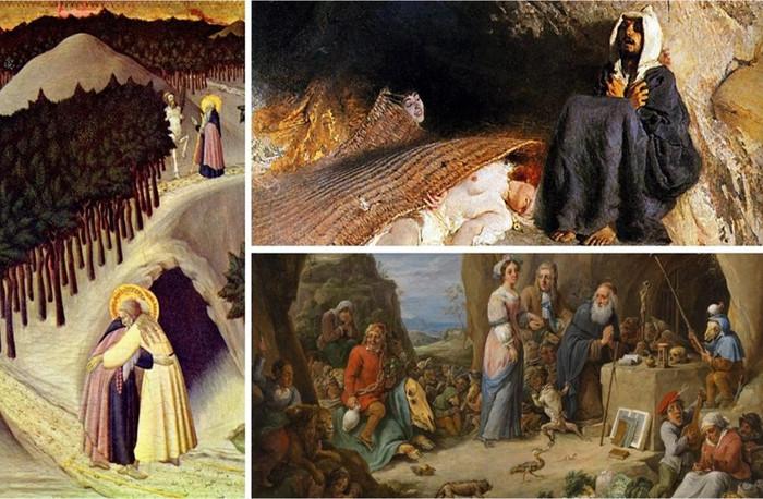 Sant'Antonio Abate e i cavalieri del fuoco sacro