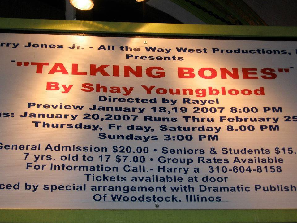 TALKING BONES -POSTER