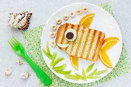 Food art idea - grilled sandwich shaped