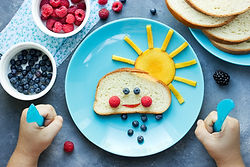 Creative idea for kid breakfast - sweet