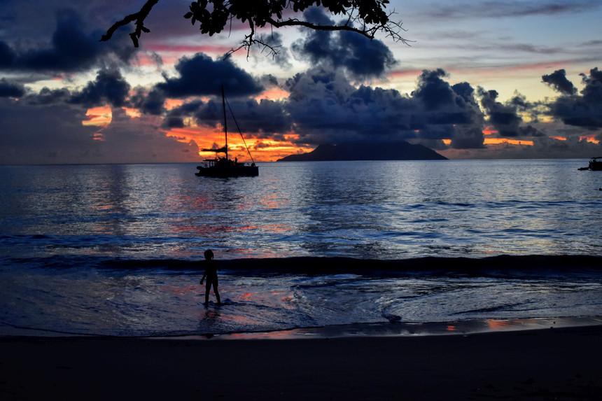 Seychelles, Sunset beach
