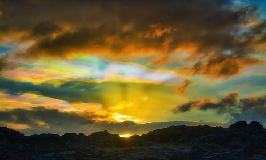 Rainbow clouds, Iceland