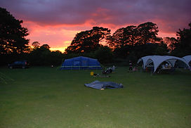 Sunset at Camping Site arranged by The Outdoor Group