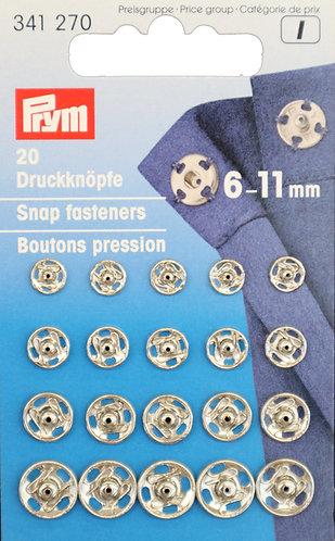 Push buttons 6 - 11 mm / 20 pcs.