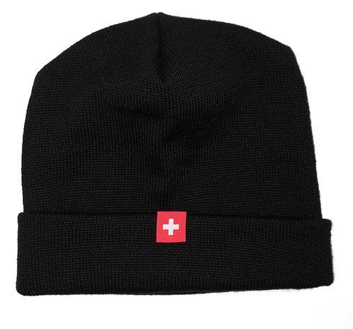 Kreuznaht Mütze schwarz