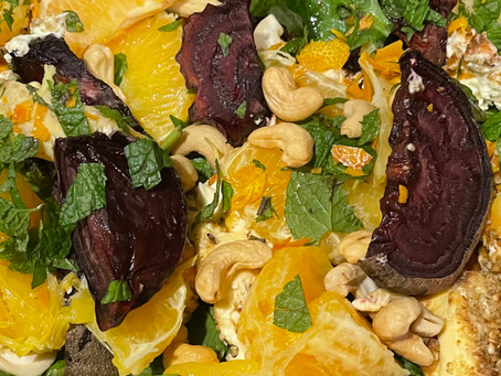 Roast Philly and beetroot salad with orange