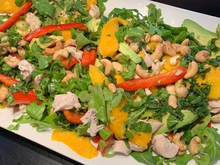 Spring Recipe: Coconut Poached Chicken and Mango Salad