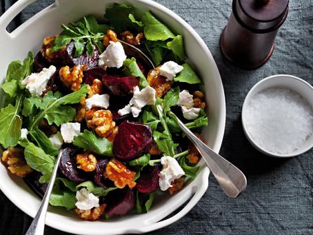 Beetroot, Walnut & Rosemary Salad
