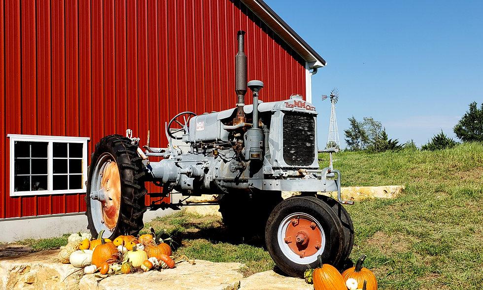 tractor pumpkin patch
