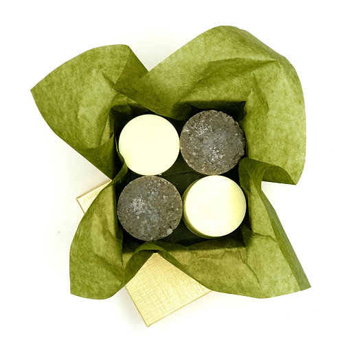 Grey Dead Sea Salt Scrub Bar & Soap Kit