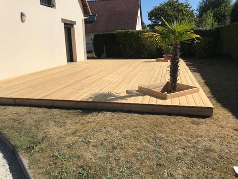 Terrasse bois achevée 2