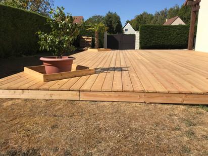 Terrasse bois achevée 1