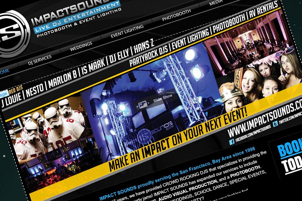 Impact Sounds Website Image