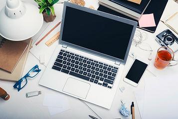 Laptop Computer on Desk