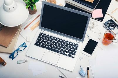 Laptop & Smartphone on desk