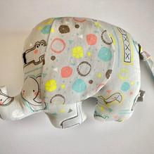 olifantje grijs met grijze oren 18 cm