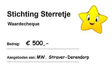 Stichting Sterretje donatie Nini Straver