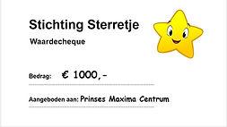Stichting Sterretje donatie Maxima Centrum