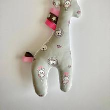 girafje grijs 22 cm